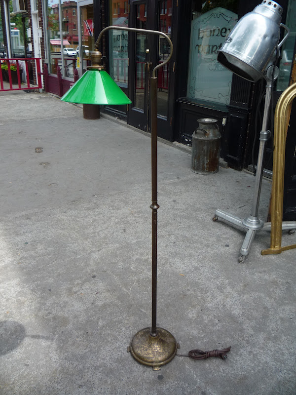 Capiz montreal digs green glass floor lamp mozeypictures Image collections