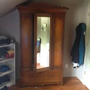mirrored armoire antique english pine armoire