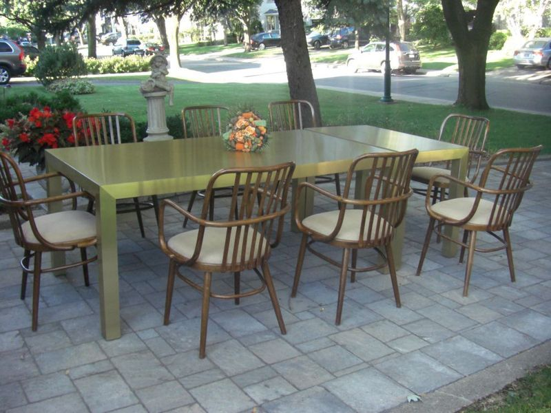 brass parsons dining     montreal digs   montreal u0027s best vintage furniture finds  i dig      rh   montrealdigs wordpress com