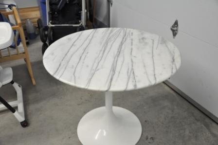 Marble Tulip Bistro Table