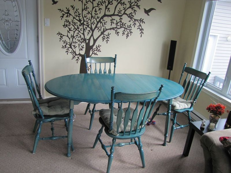 Blue Table And Chairs Loris Decoration