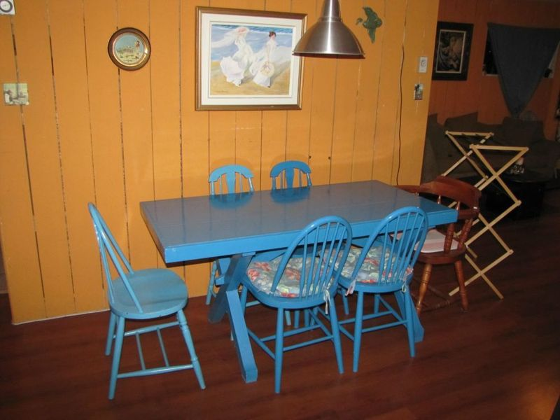 Blue Dining Table Chairs Wood Trestle Dining Table Plus Mismatched