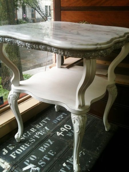 Batten Down Vintage Furniture Finds at Kijiji Montreal  : marble side table from montrealdigs.wordpress.com size 450 x 600 jpeg 45kB
