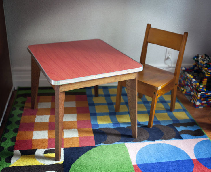 kids play table vintage child sized table and chair in