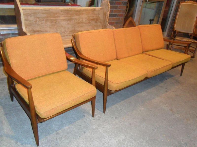 Scandinavian Teak Sofa + Armchair Vintage Scandinavian Style ...