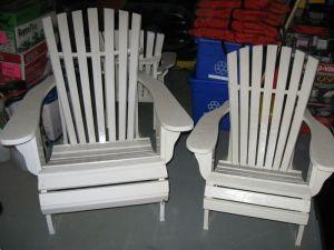 Four.White.Adirondack.Chairs