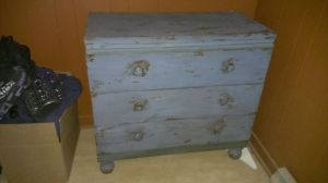 Antique.Quebec.Blue.Chest.Dresser