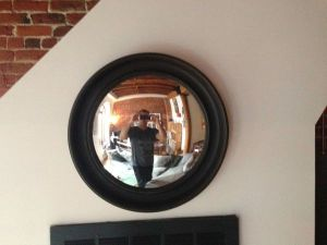 Convex.Mirror.Wood