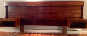 Rosewood.Danish.Queen.Headboard.Nightstands