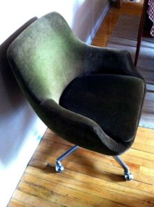 Green.Shell.Chair.Upholstered.Eames