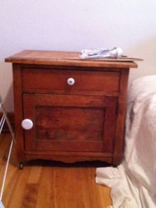 Vintage.Oak.Nightstand