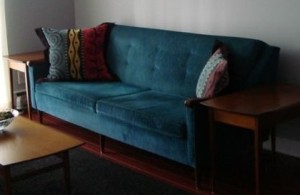 1950.Midcentury.Retro.Blue.Sofa