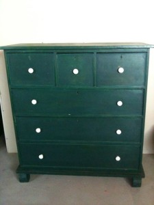 Antique.Pine.Green.Chest
