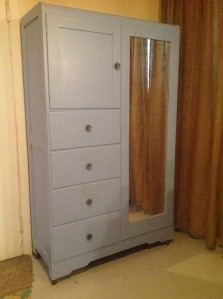 Grey.Painted.Vintage.Wardrobe