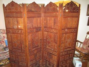 Indian.Carved.Wood.Screen