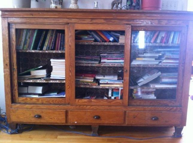 sliding bookshelf door