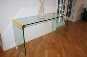 Pace.Glass.Waterfall.Table.Brass
