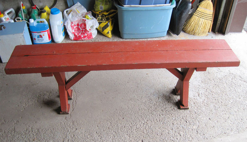 antique carpenter's bench