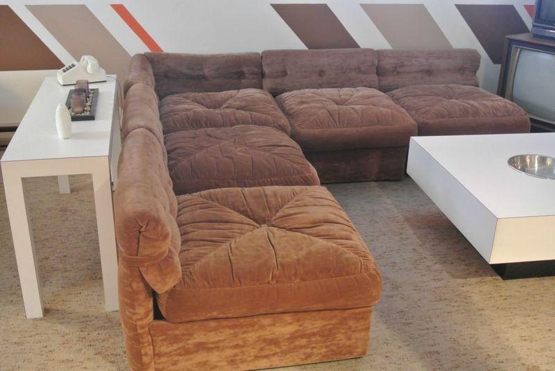 ... Retro Brown Sectional Sofa ...