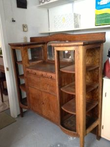 Antique.Mirrored.Sideboard