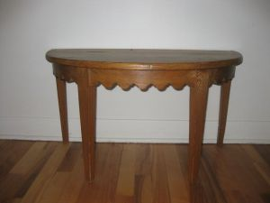 Demilune.Scalloped.Wood.Table