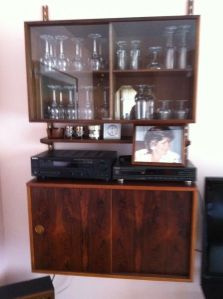 Rosewood.1970s.Shelf.Wall.Unit.Cabinet