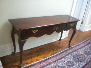 Thomasville.Mahogany.Console.Table