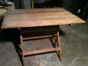 Wood.Drafting.Table