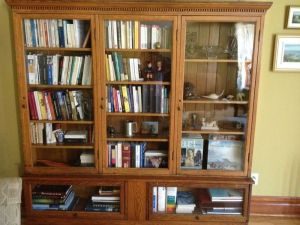 Antique.Large.Oak.Bookshelf