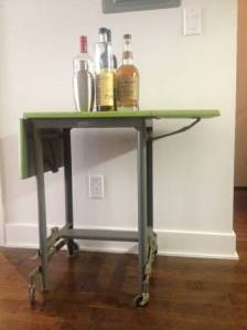 Metal.Typewriter.Table.Chartreuse.Green