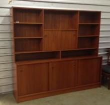 Teak.Vintage.Bookcase.Storage.Cabinet
