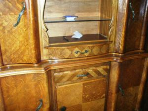 Maple.Art.Deco.Cabinet.Sideboard.Hutch