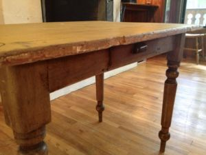 Antique Pine Kitchen Table Montreal