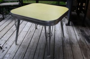 Yellow.Chrome.Formica.Table