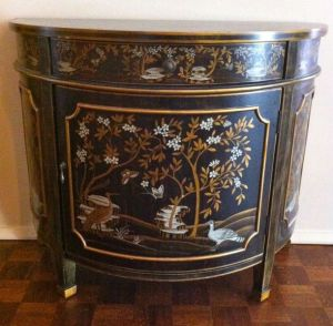 Chinoiserie.Half.Moon.Cabinet