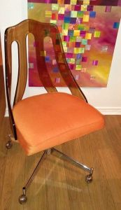 Orange.Howell.Lucite.Chair