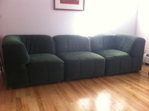 Roche.Bobois.Vintage.Emerald.Green.Sectional.Sofa