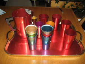 Vintage.Color.Metallic.Barware.Drinking