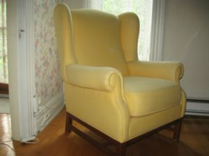 Yellow.Wingback.Chair