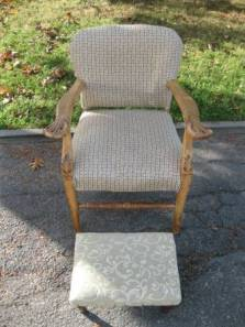 Antique.Armchair.Footstool