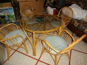 Bamboo.Rattan.Kitchen.Set