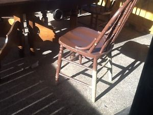 Four.Vintage.Wood.Chairs