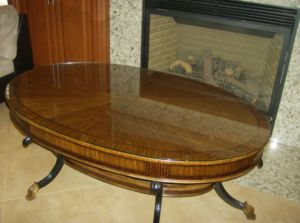 Maitland.Smith.Oval.Veneer.Coffee.Table