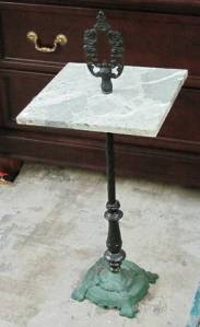 Metal.Marble.Drinks.Accent.Table