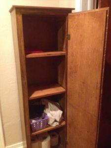 Narrow.Wood.Armoire.Cabinet.Pantry