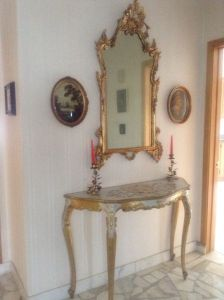 Tole.Console.Entry.Table.Mirror.Gilt