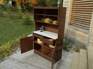 Vintage.Metal.Pantry.Kitchen.Hoosier.Cabinet