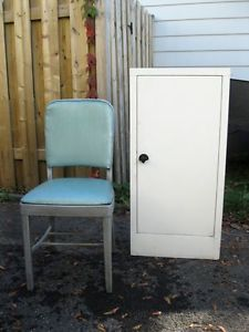 Vintage.Pantry.Cabinet.Metal.Chair