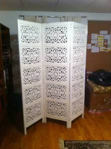White.Indian.Carved.Wood.Screen