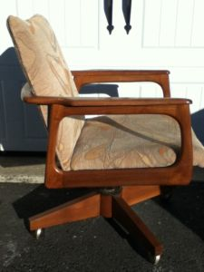 Wood.Midcentury.Desk.Office.Chair